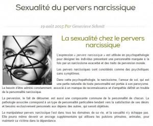 Sexualité du pervers narcissique