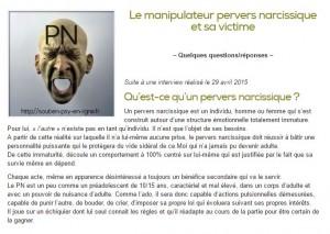 Le manipulateur pervers narcissique et sa victime