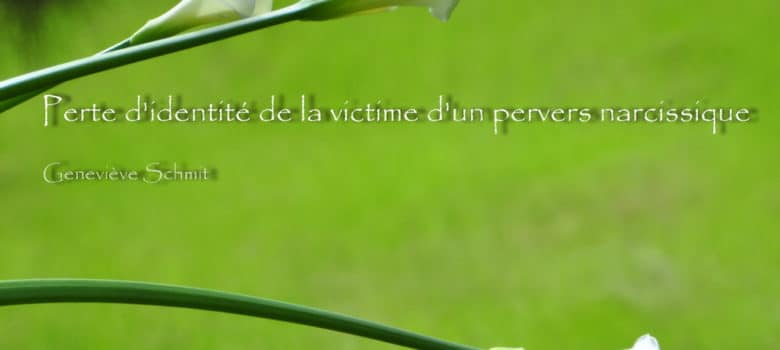 Perte d'identité de la victime d'un pervers narcissique ou lorsque la victime fusionne avec le prédateur. Geneviève Schmit