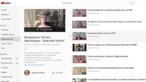 YouTube de Geneviève SCHMIT, Experte dans l'accompagnement de victimes de manipulateurs pervers narcissiques